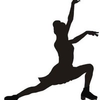 Wallmonkeys WM177928 Figure Skating Peel and Stick Wall Decals (18 in H x 16 in W)