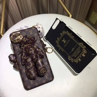 Fashion Online Louis Vuitton Bear Pu Mobile Phone Shell Iphone Phone Cover Case For Iphone 8 8plus Iphone6 6s 6plus 6s-plus Iphone 7 7plus