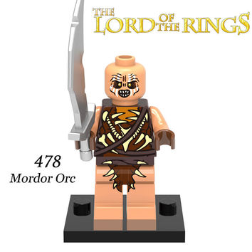 Building Blocks Mordor Orc The Lord of the Rings Hobbit Aragorn Minifigures Archer Eomer Super Heroes Star Wars Kids Toys DIY