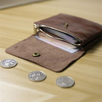 Ladies Genuine Leather Small Wallet Women Coin Bag Men Womens Wallets and Purses Small Clutch Bag Carteira Feminina Men's Wallet