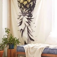 Deb Haugen For DENY Pineapple 1 Tapestry- White One