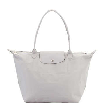 Le Pliage Neo Large Shoulder Tote Bag, Pebble - Longchamp