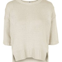 Zip Back Tape Jumper - Topshop
