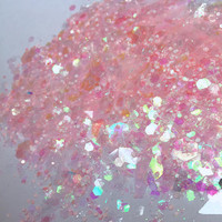 Unicorn Horn (Chunky Loose Glitter ~6 grams): face, makeup, hair, nail art, festival glitter, costume, unicorn, pink rave makeup, body