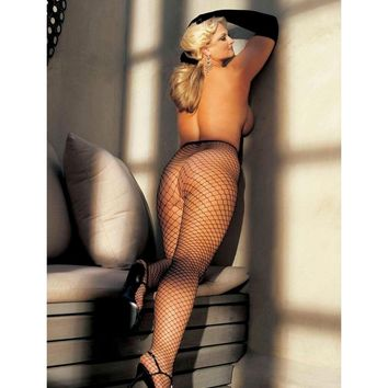 Shirley of Hollywood IS-IS-X96627 Big Hole Fishnet Pantyhose