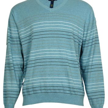 Club Room Men's Multicolor Stripe Cotton Sweater