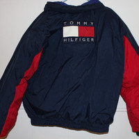 deadstock tommy hilfiger reversible winter puffer coat