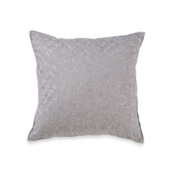 Real Simple® Linear Square Toss Pillow in Grey
