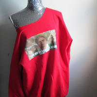 Buddy The Elf Lies Off The Shoulder Christmas Party Sweatshirt