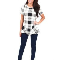 Walking on Air Plaid Peplum Top | Monday Dress Boutique