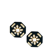 New Look | New Look Limited Edition Octagon Plate Stud Earrings at ASOS