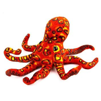 Stuffed Octopus Plush Toy Soft and Cute Realistic Styling Gift for Kids.Orange