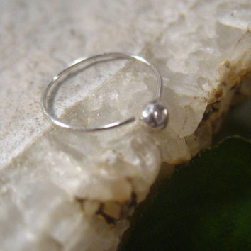 Xtreme Thin Silver Ball Nose Ring