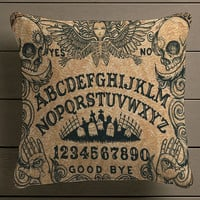 ouija board horror movie  Square Pillow Case Custom Zippered Pillow Case one side and two side
