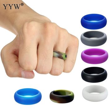 Multicolor Size 6-12 Hypoallergenic Crossfit Flexible Rubber Band Silicone Band Wedding Ring Vintage Engagement Rings for Women