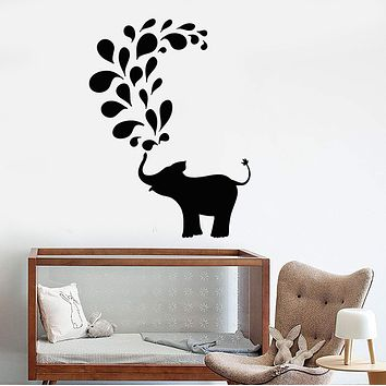 Vinyl Wall Decal Baby Elephant Animal Nursery Kids Room Stickers Unique Gift (ig3808)