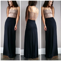 A Basic Maxi Skirt in Black