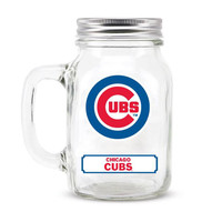 Chicago Cubs MLB Mason Jar Glass With Lid