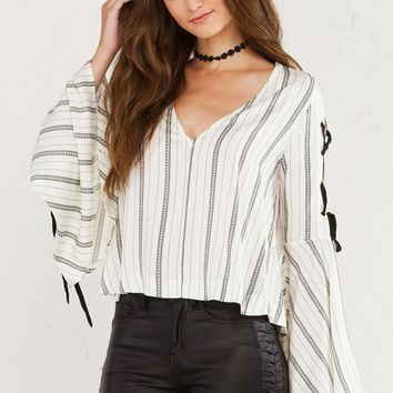 GONE GIRL LONGSLEEVE BELL SLEEVE TOP - What's New