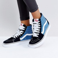 Vans Classic Sk8 Hi Sneakers In Blue And Black at asos.com
