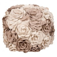 Neutral Rose Pouf
