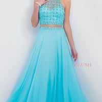 Two Piece Turquoise Prom Dress from Intrigue by Blush