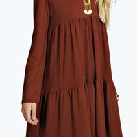 Tara Tiered Babydoll Smock Dress