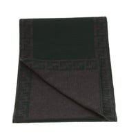 Fendi Black and Brown Bordered Scarf