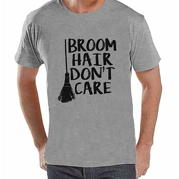 7 ate 9 Apparel Men's Broom Hair Witch Halloween T-shirt