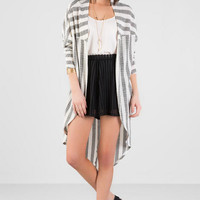 Lois Striped Duster Wrap