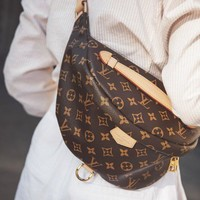 LV Tide brand classic old flower female shoulder bag chest bag pocket