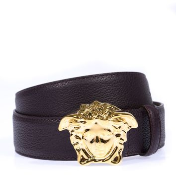 Versace Belt Sz. 90 Leather Made Italy Man Purples DCU4140DGOV2-KU40H PUT OFFER