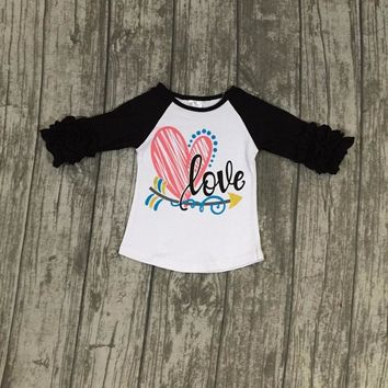 "Girls ""LOVE"" Raglan Shirt"