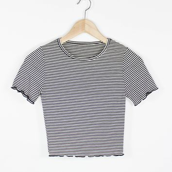 Stripe Crop Baby Tee