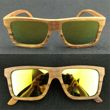 cool fluorescence handmade wood sunglasses + bamboo box gift 34