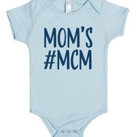 Mom's Man Crush Monday-Unisex Light Blue Baby Onesuit 00