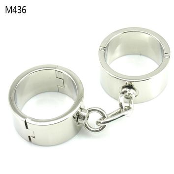 Metal Bondage Heavy Handcuffs Male Hand Cuffs Wrist Restraints Erotic Toys Sex Torture Products For Adults Slave Bdsm Tools