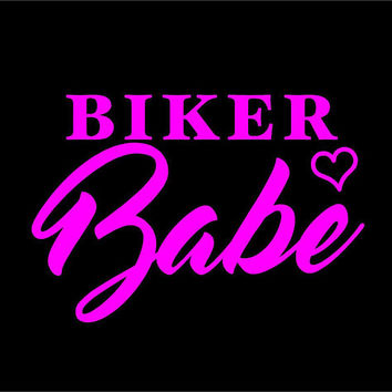 Biker Babe Decal Biker Babe Car Decal Vinyl Decal Sticker Custom Car Vehicle Auto Decal Biker Babe Decal