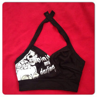 Psychobilly/ Rockabilly/ Pinup/ Horror/ the Misfits Bustier Halter Top  sz. XS, S, M, L, XL