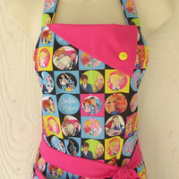 Classic Barbie Retro Style Full Apron for Women / Barbie Doll