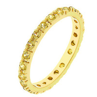 Yellow Cz Eternity Band