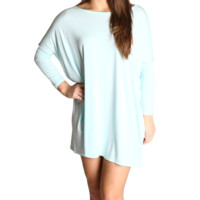 Mint Piko Tunic 3/4 Sleeve Dress