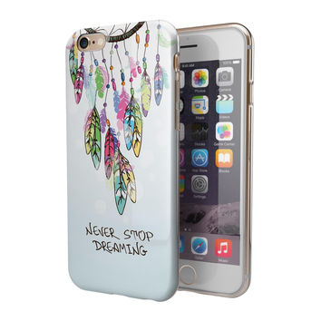 Never Stop Dreaming Watercolor Catcher 2-Piece Hybrid INK-Fuzed Case for the iPhone 6/6s or 6/6s Plus