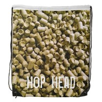 Beer Hops Brewery Home Brew Hop Head Drawstring Backpacks