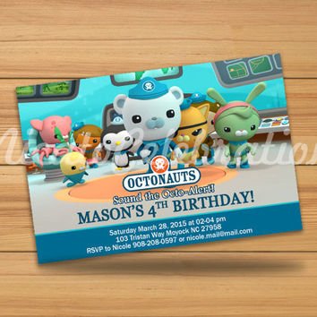 Octonauts Design Invitation - Digital File