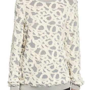 Strom Asta Fluffy Embroidered Pullover | Nordstrom