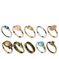 River Island Blogger Ring Pack at asos.com
