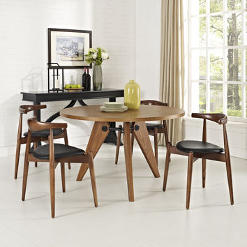Trofast Dining Set Dark Walnut / Black with Round Table