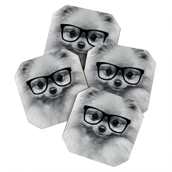 Allyson Johnson Hippest Pomeranian Coaster Set