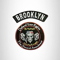 BROOKLYN and Defend Your Rights Smalls Set for Biker Vest